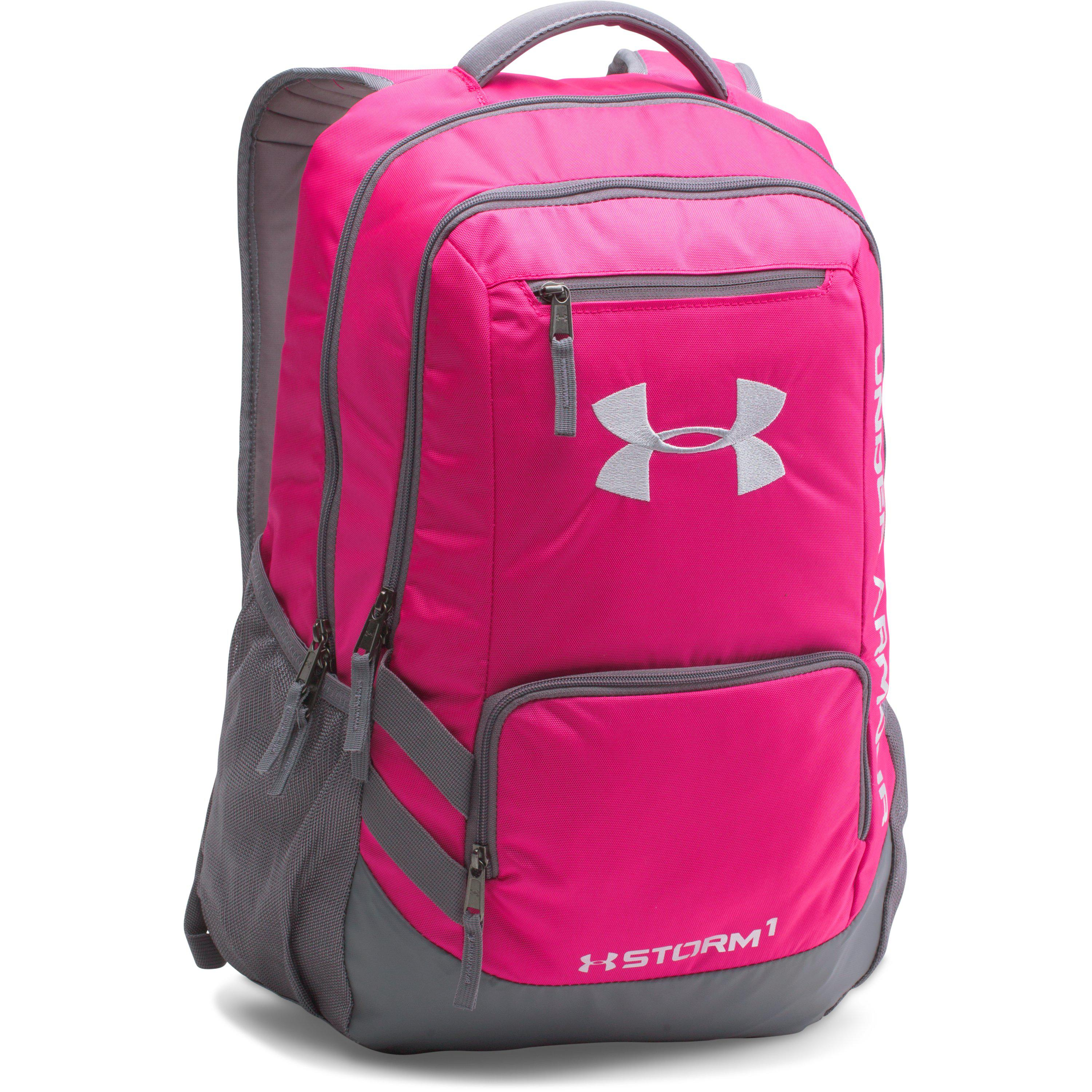 Lyst - Under Armour Ua Team Hustle Backpack in Pink 923b662175