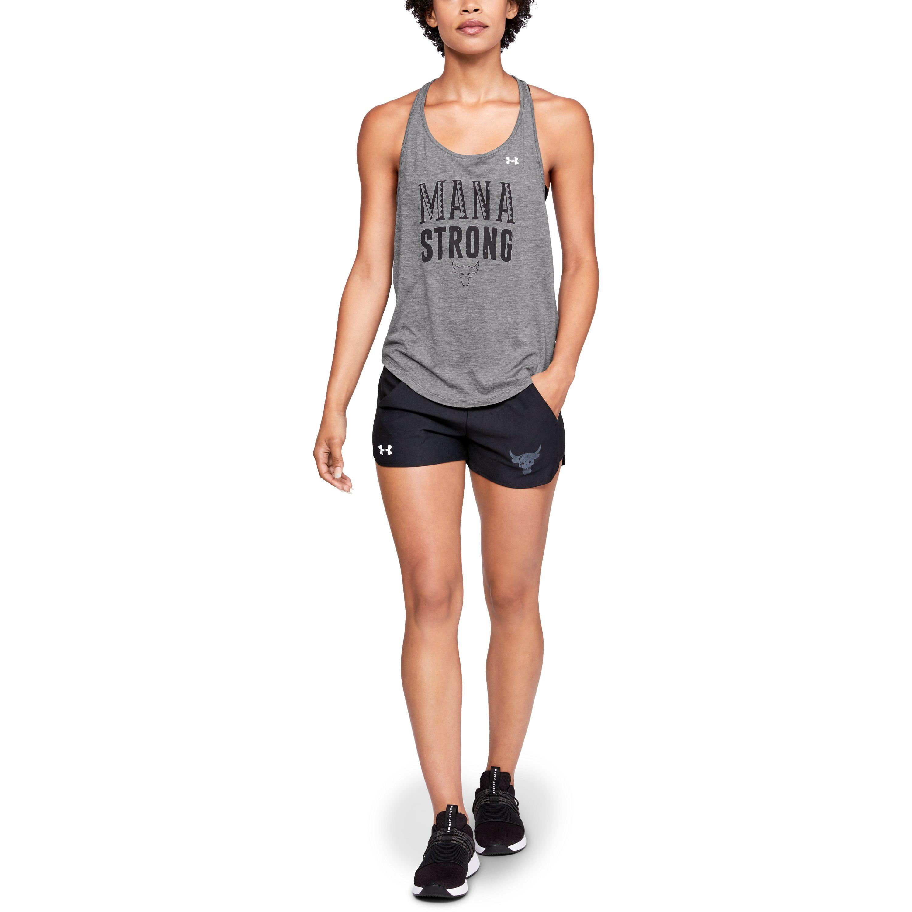293aefa455a5e5 Lyst - Under Armour Women s Ua X Project Rock Mana Strong Tank in Gray