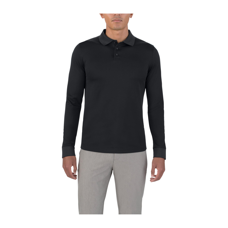 768ffdec Lyst - Under Armour Men's Uas Pique Long Sleeve Polo in Black for Men