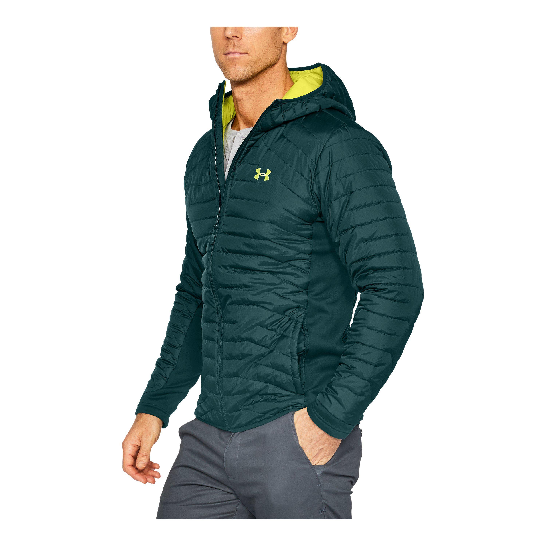 Lyst - Under Armour Men s Coldgear® Reactor Hybrid Jacket in Green ... 29335fe4bbe