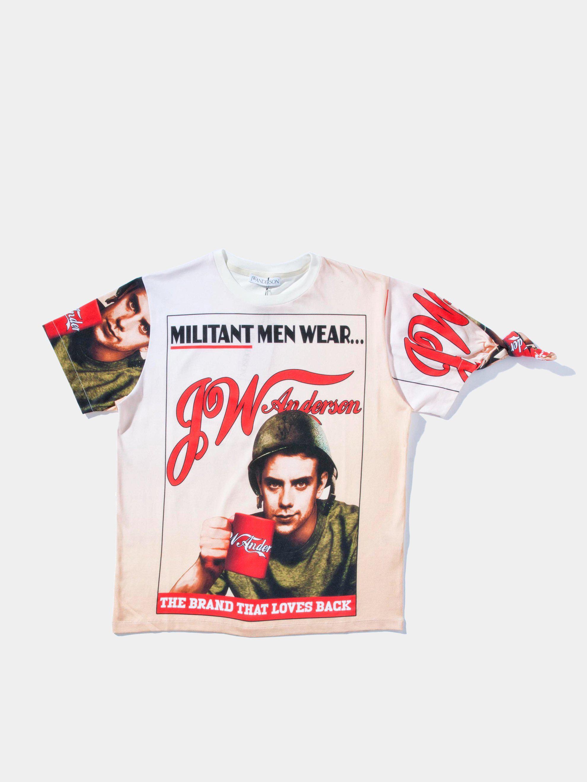 livraison gratuite f7d3e a0013 JW Anderson Jwa Militant T-shirt for Men - Lyst