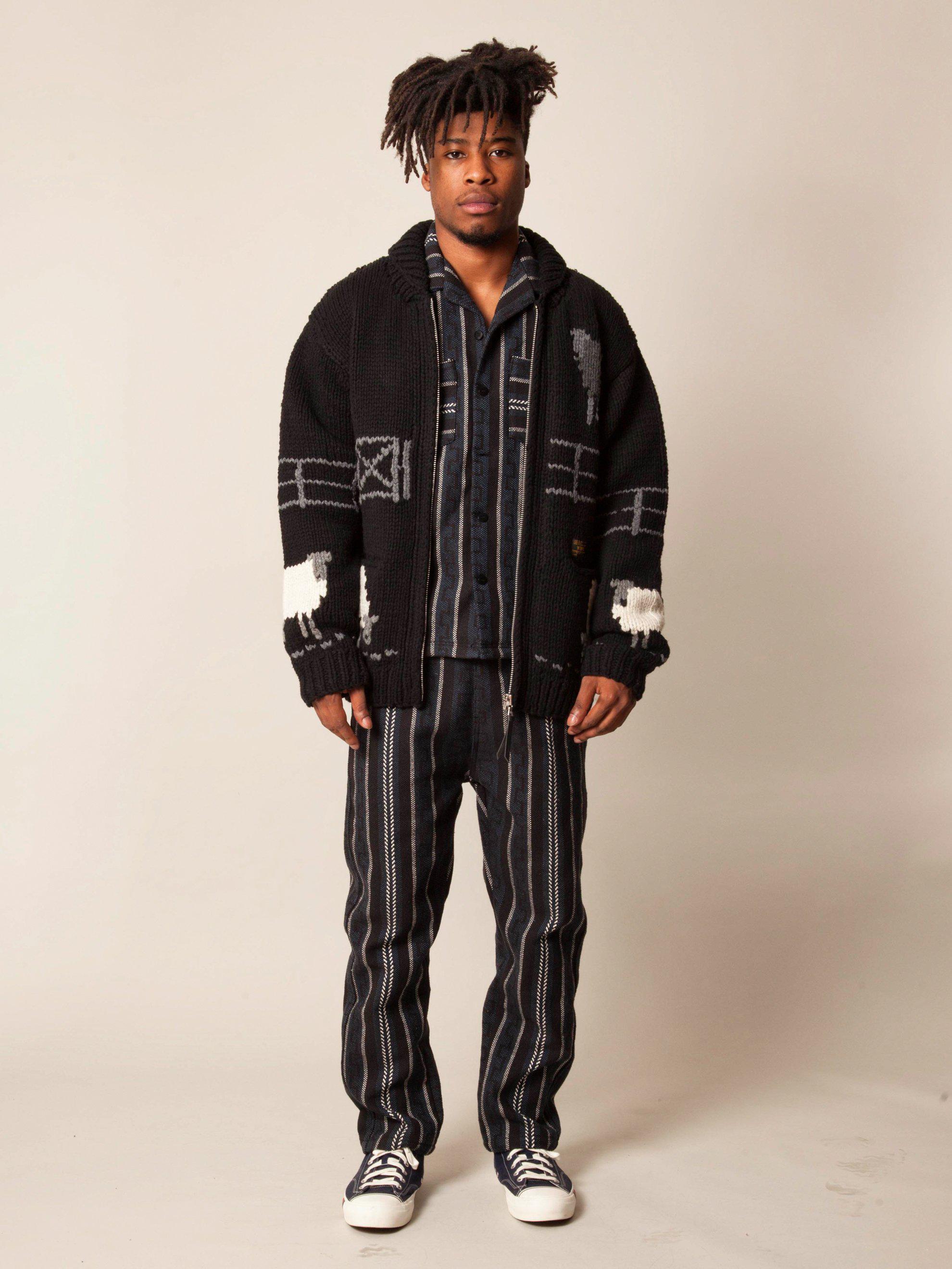 5a3ff4fe4f7 Lyst - WTAPS Cowichan Sweater in Black for Men
