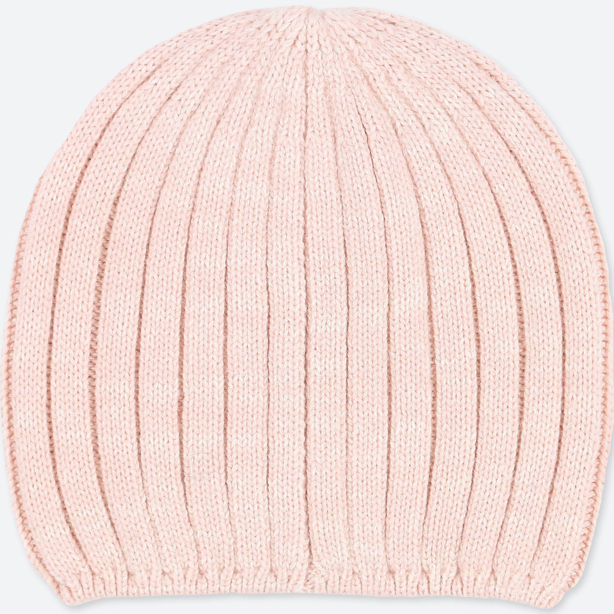 7f6d96ec71c55 Uniqlo Heattech Knitted Beanie Hat in Pink - Lyst