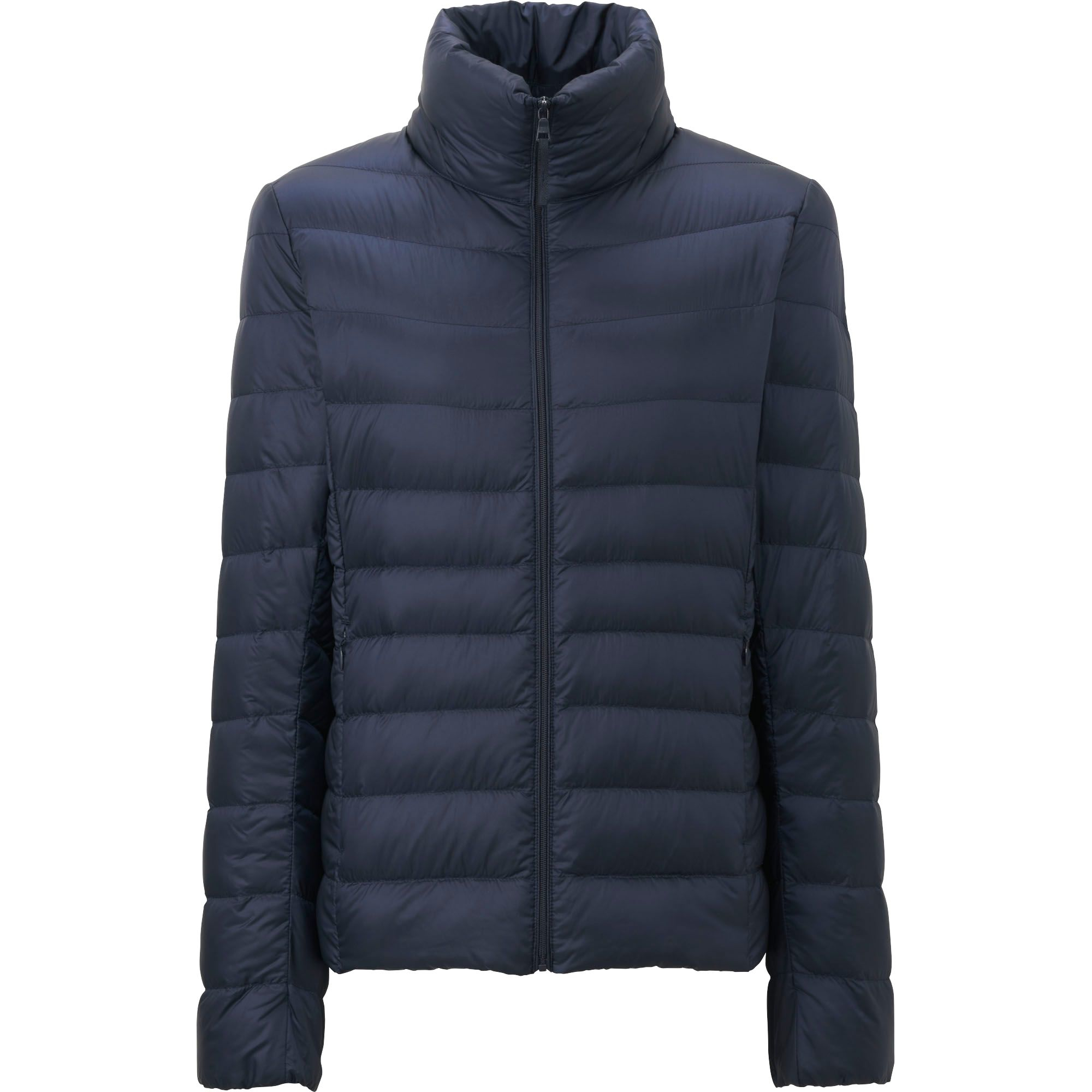 uniqlo women ultra light down jacket in blue navy lyst. Black Bedroom Furniture Sets. Home Design Ideas