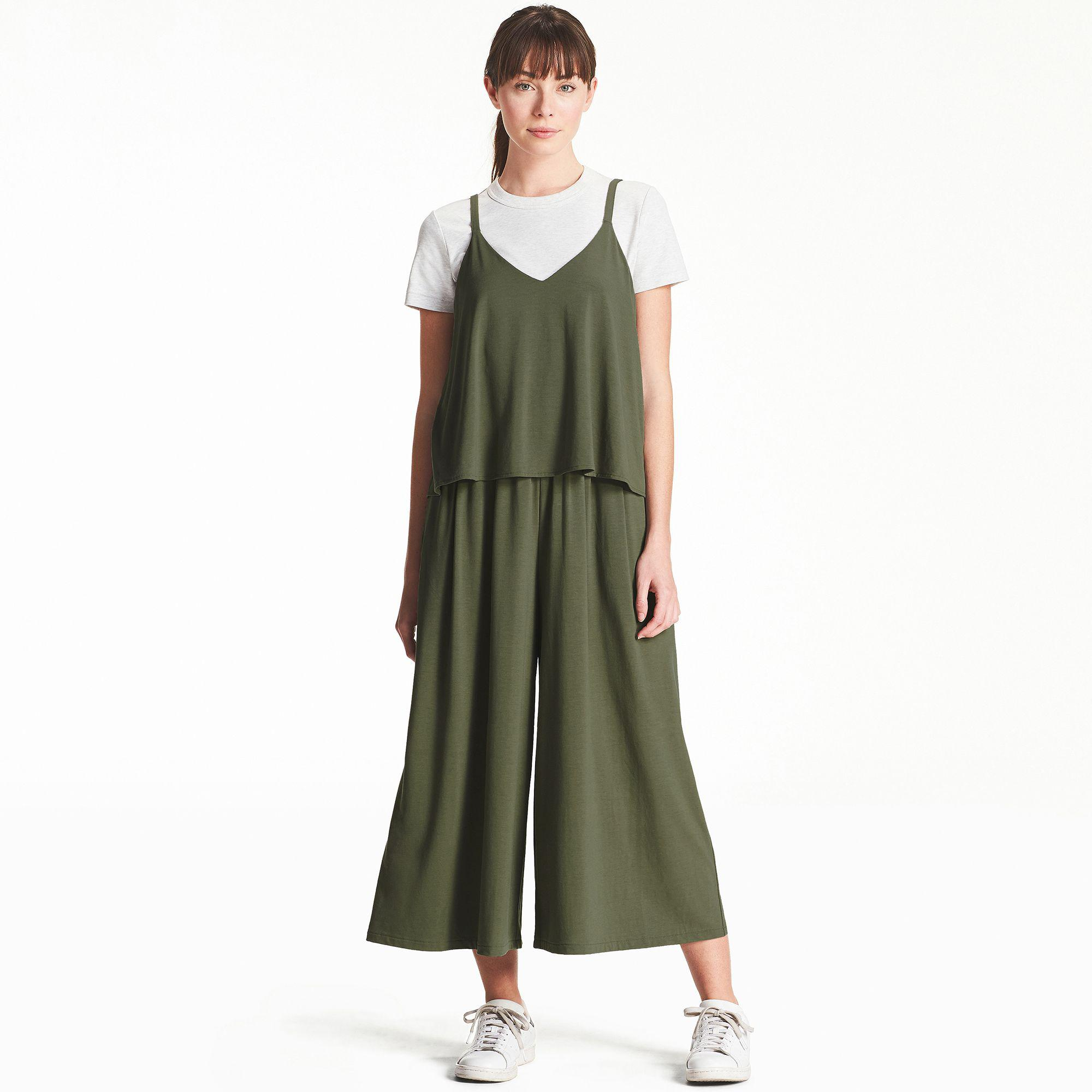 0165861fd10a Uniqlo Camisole Jumpsuit in Green - Lyst