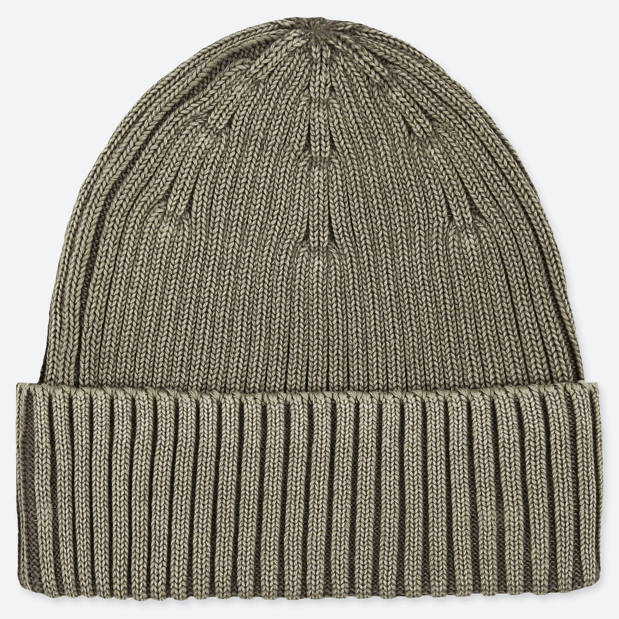 Uniqlo Rib Beanie Hat in Green for Men - Lyst 68f85a19a3f5