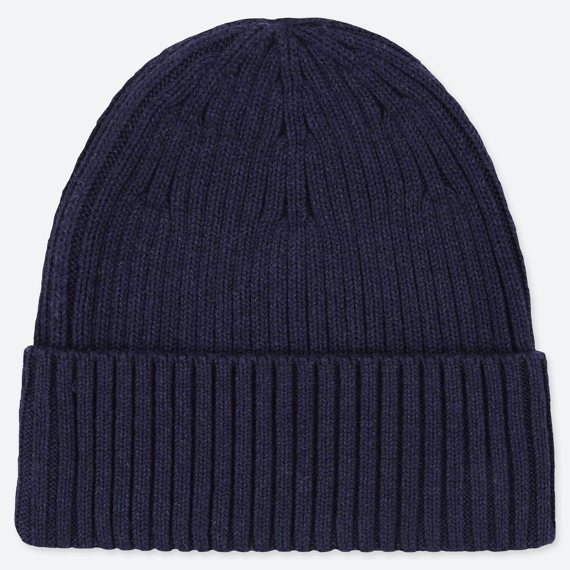 Lyst - Uniqlo Rib Beanie Hat in Blue for Men d92ce823a273