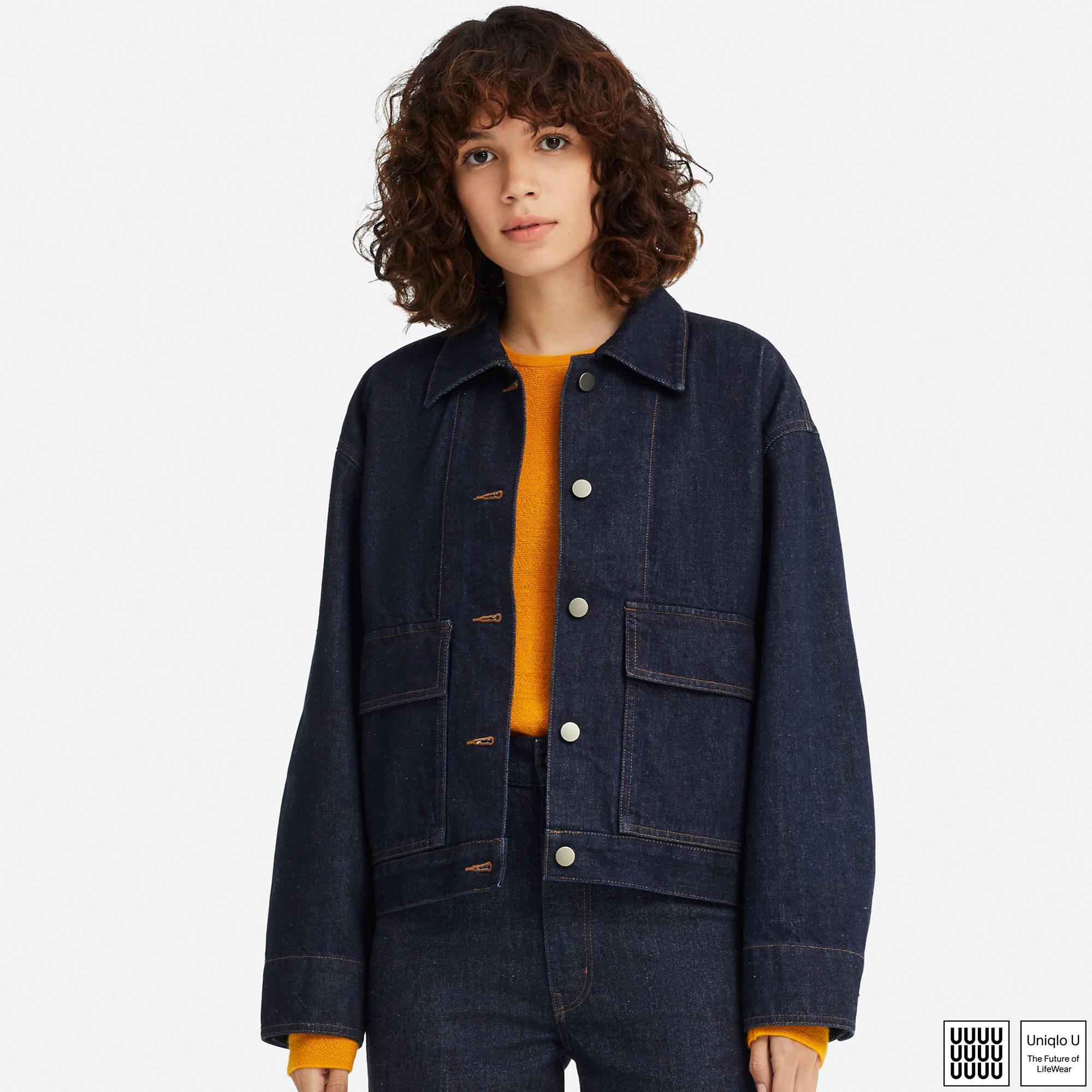 Lyst Uniqlo Women U Work Jacket In Blue