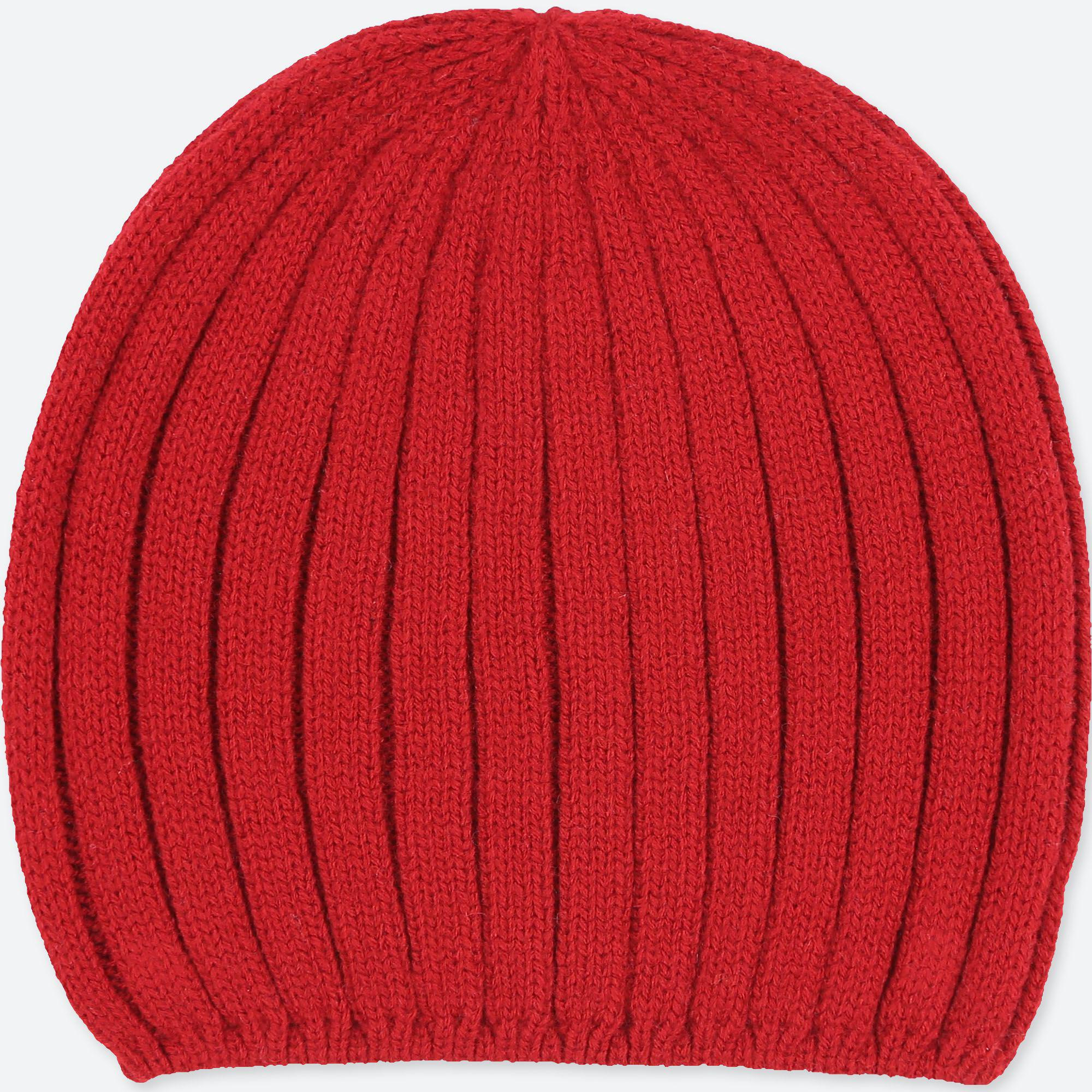 Uniqlo Women Heattech Knitted Beanie in Red - Lyst 64a4becaf31
