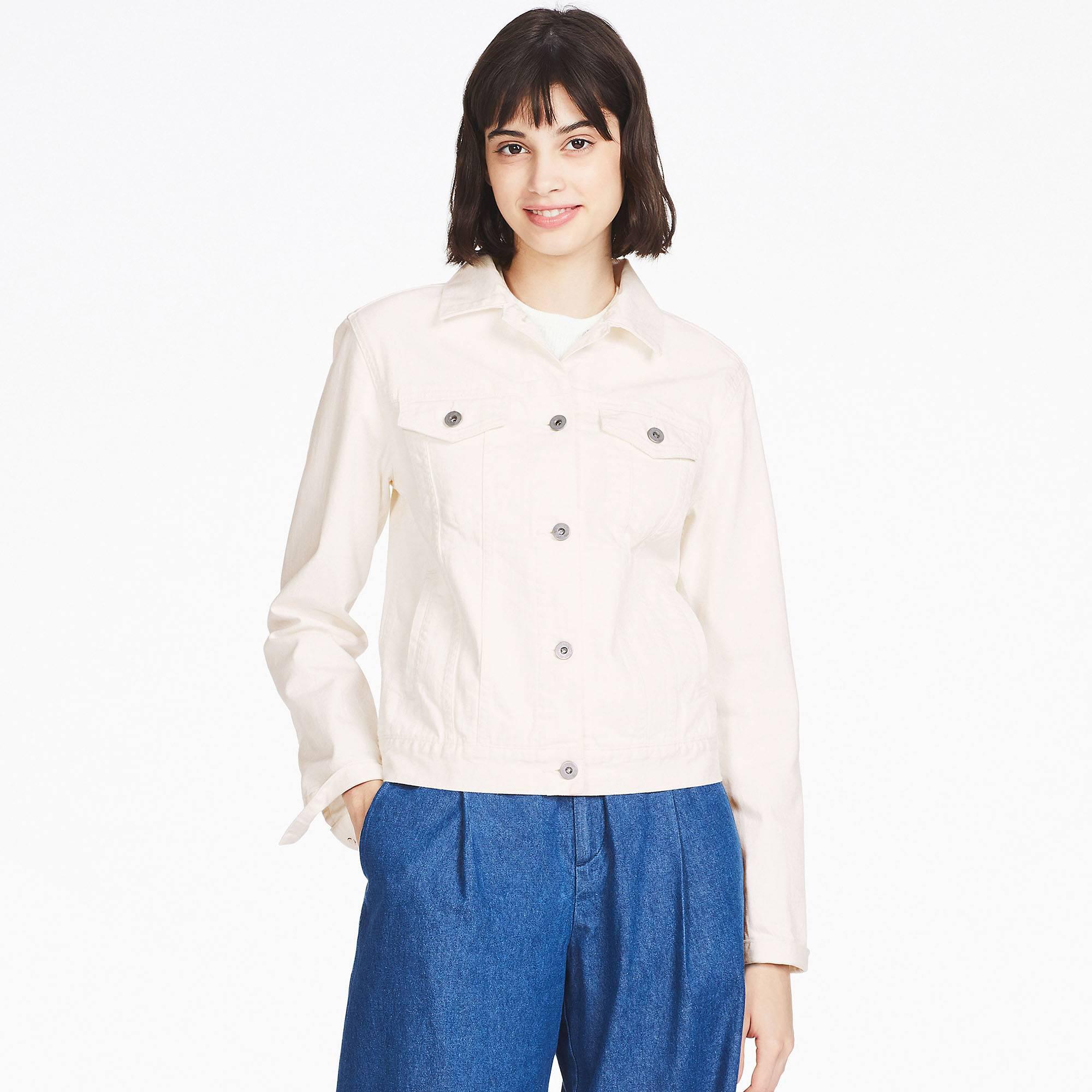 Lyst Uniqlo Women Denim Jacket In White