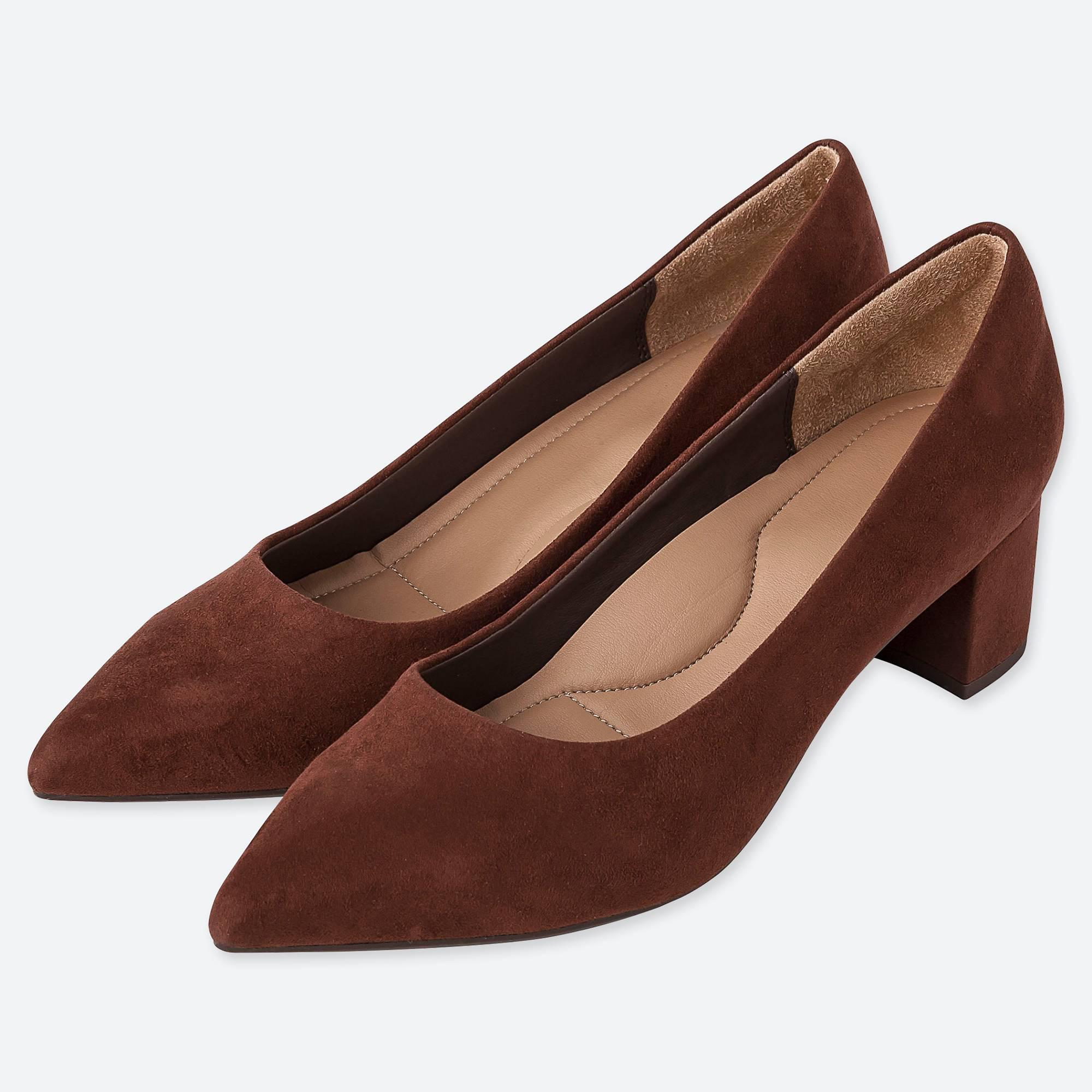540dd31670b1 Uniqlo - Brown Women Chunky Heeled Shoes - Lyst. View fullscreen