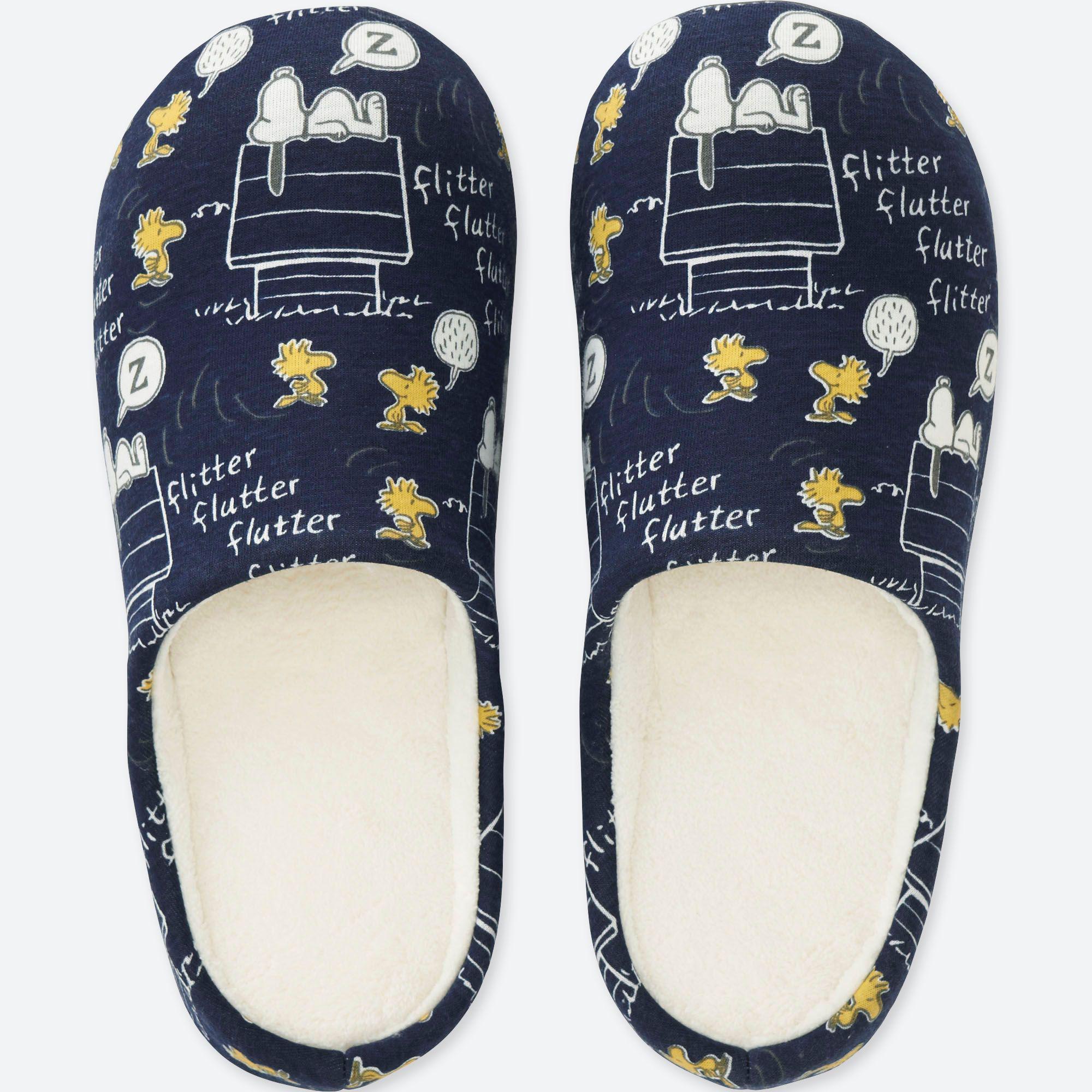745f12bb6ba702 Uniqlo Peanuts Slippers in Blue - Lyst