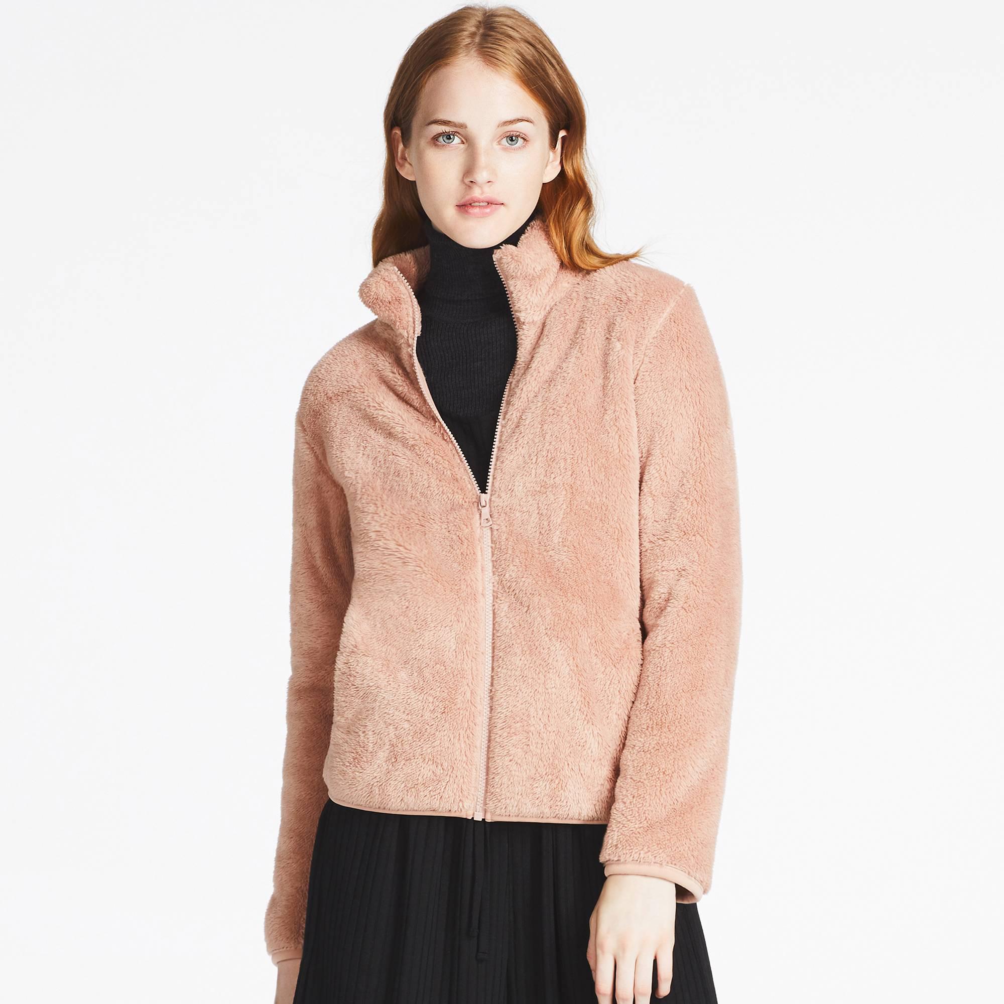 0195fc61162 Lyst - Uniqlo Women Fluffy Yarn Fleece Full-zip Jacket