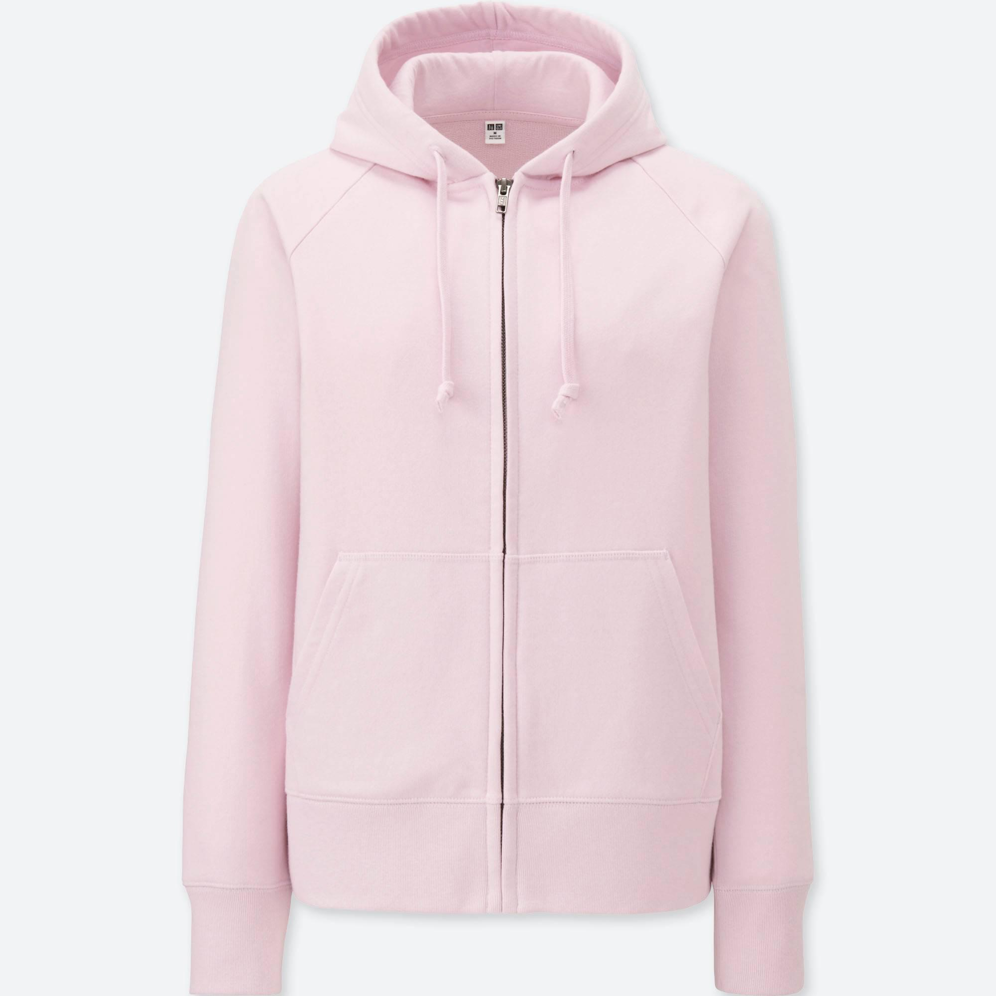 ae325a2e2d Lyst - Uniqlo Sweat Long Sleeved Zipped Hoodie in Pink