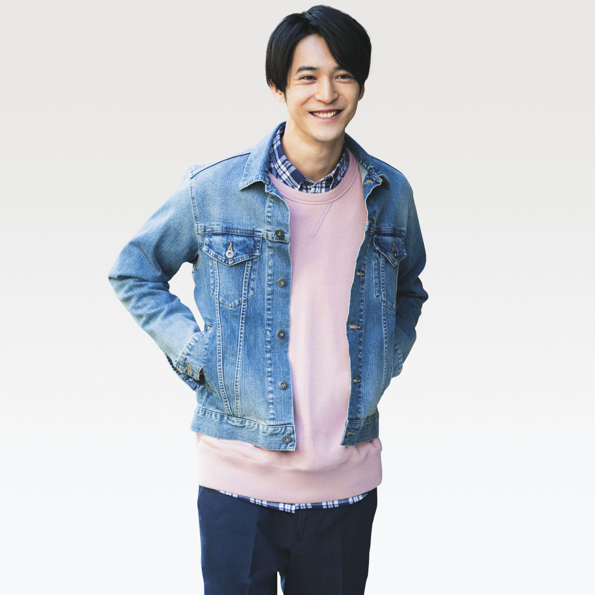 aa108d4a18 Uniqlo Denim Jacket in Blue for Men - Lyst