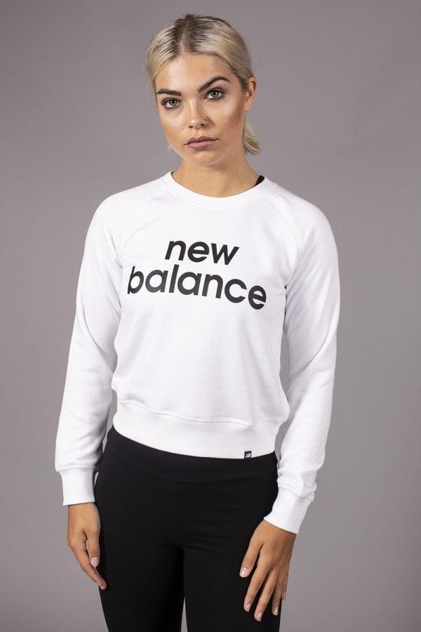 cc9b4a82 Lyst - New Balance Essential Crew Sweatshirt in White