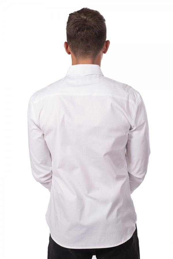 6af810aa67 Lyst - 11 Degrees Long Sleeve Shirt in White for Men
