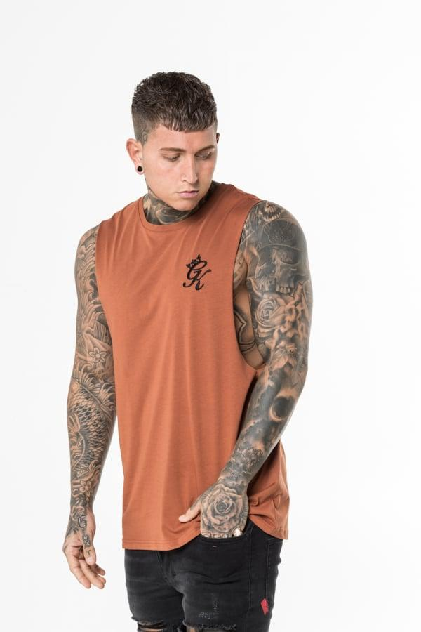 d285542b Gym King Stern Cut Off Tee in Brown for Men - Lyst