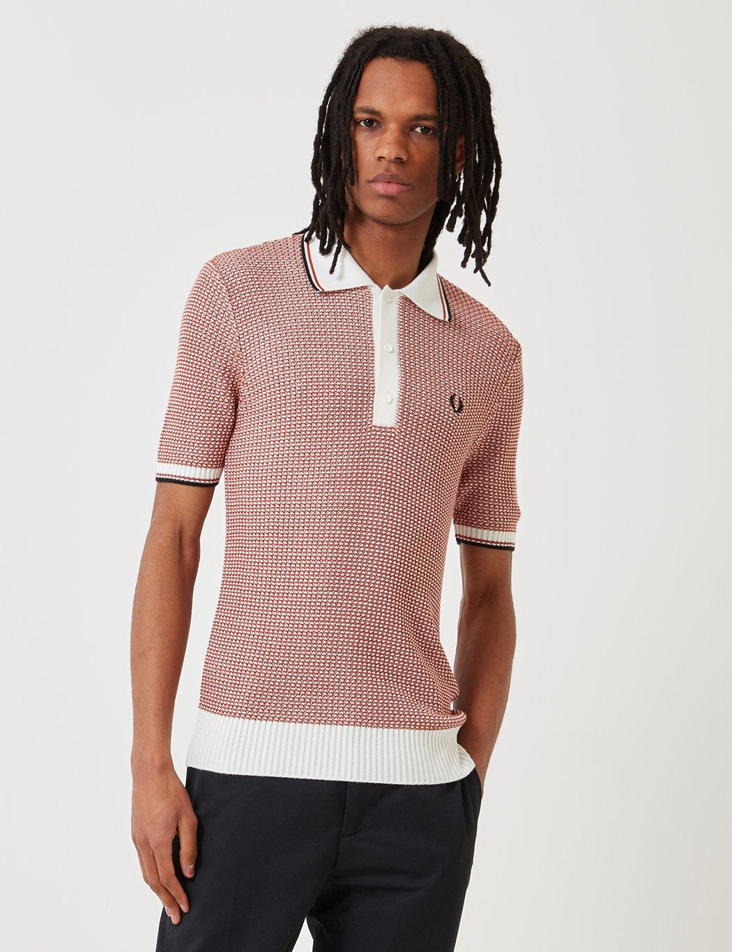 Fred Perry Re-issues Two Colour Texture Knit Shirt in ...