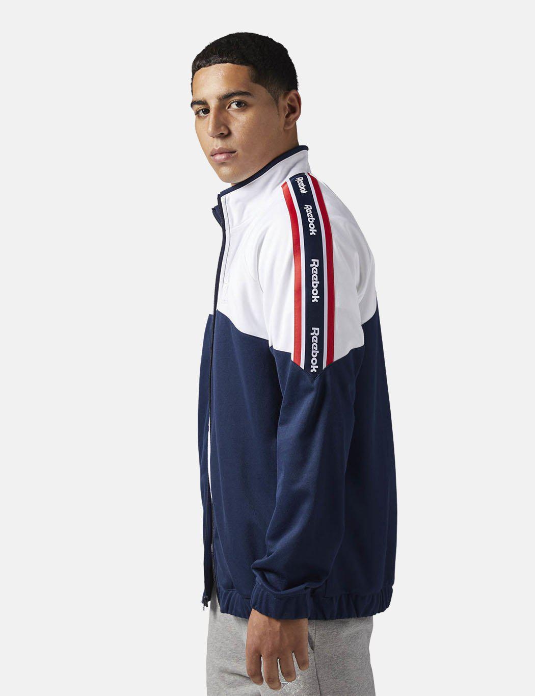 Lyst - Reebok Classics Franchise Track Top in Blue for Men 2167129dc