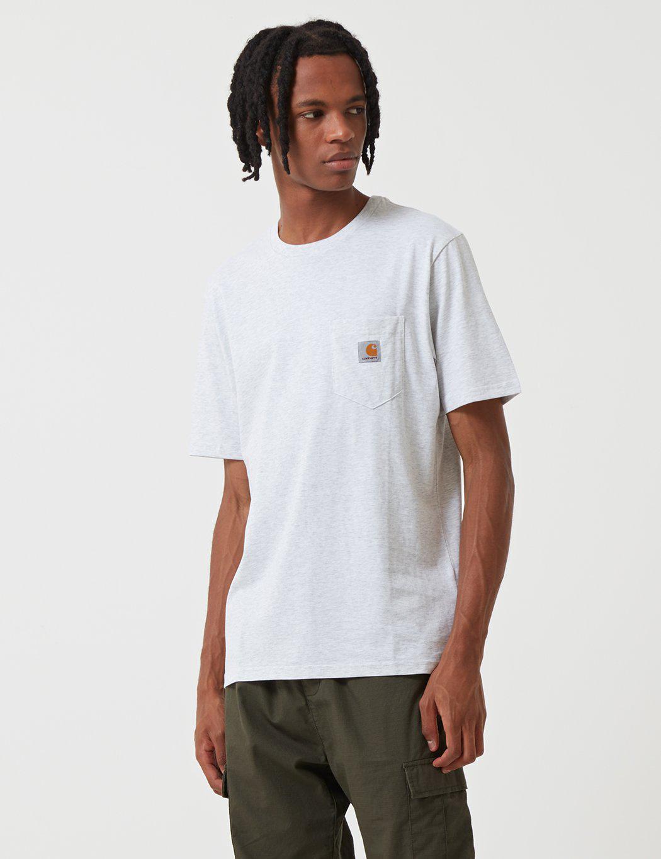 ad746ed7ed88 Lyst - Carhartt Pocket T-shirt in White for Men