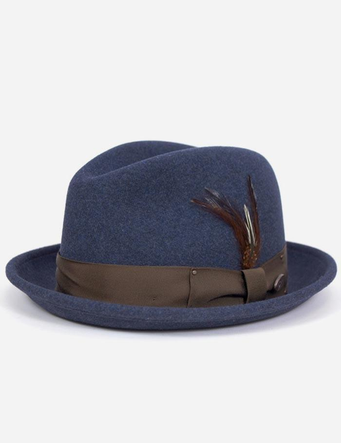 478584a8a54de Bailey of Hollywood Bailey Tino Felt Crushable Trilby Hat in Blue ...