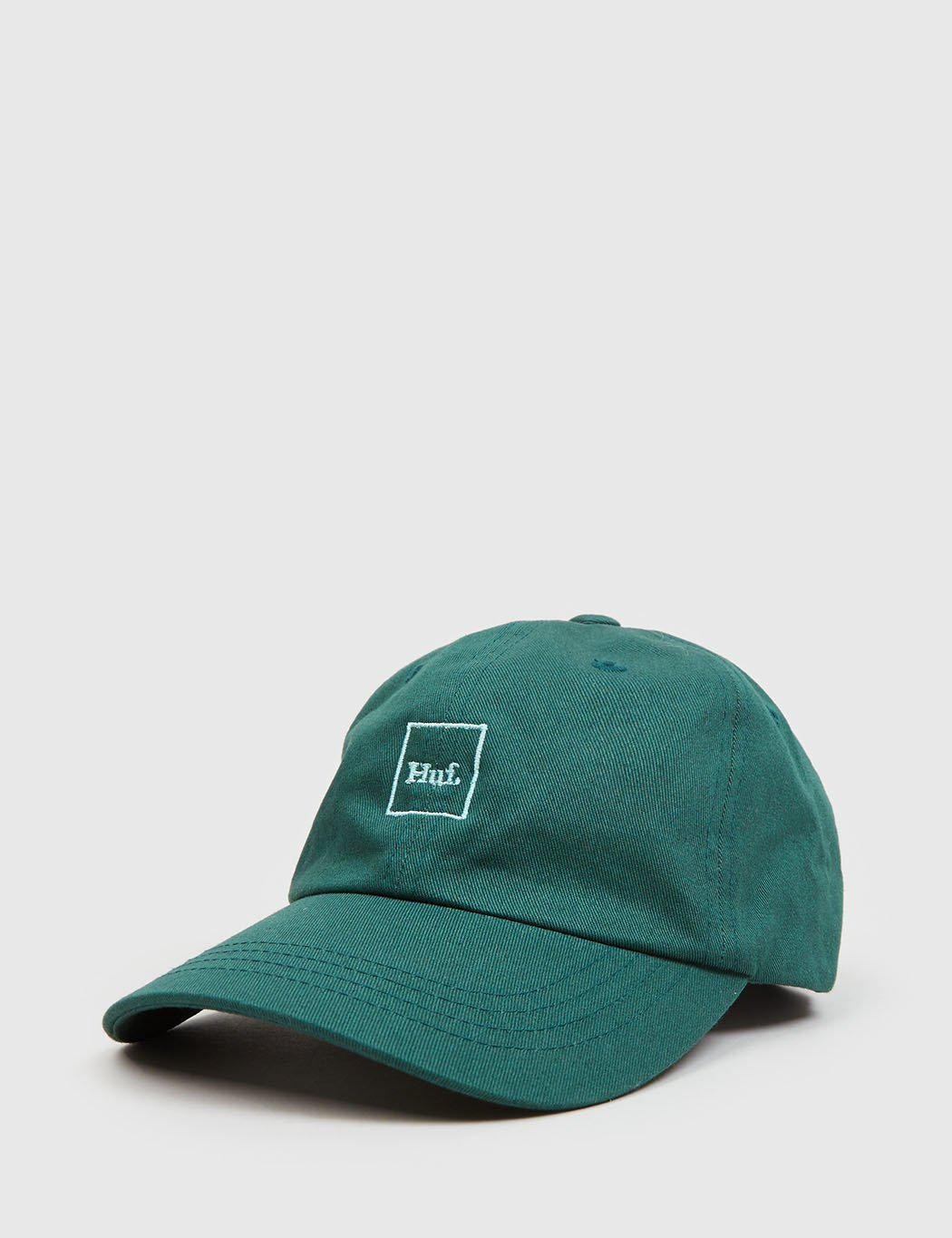 2181f283 Lyst - Huf Domestic Logo Curved Peak Cap in Green for Men