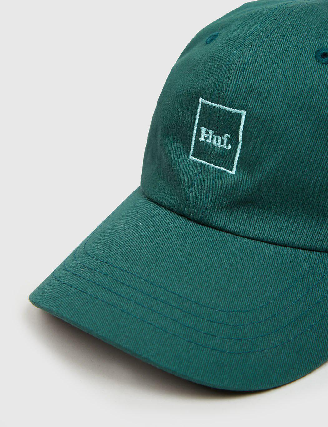 60ce04d6 Huf Domestic Logo Curved Peak Cap in Green for Men - Lyst