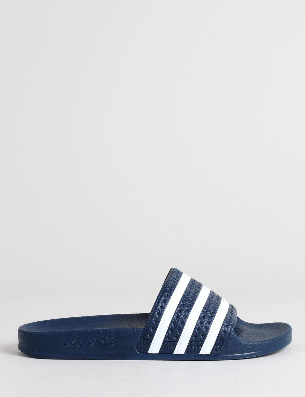 89f0caf6290288 Lyst - adidas Originals Adilette Slides - Adiblue   White in Blue ...