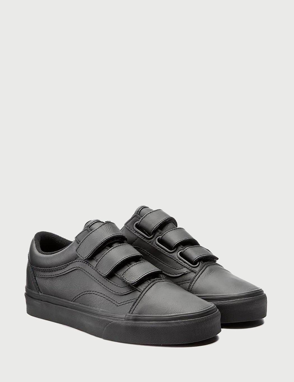 Vans Old Skool Velcro (mono Leather) in Black for Men - Lyst 011578f09