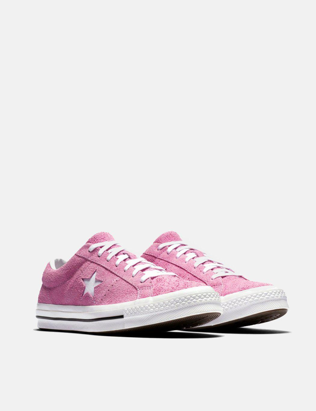 94195275db99 Lyst - Converse One Star Ox Low Suede (159492c) in Pink for Men