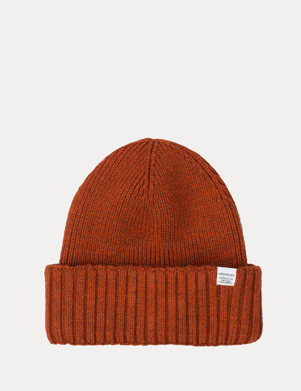 be3e0408af6 Lyst - Norse Projects Chunky Rib Beanie Hat in Orange for Men