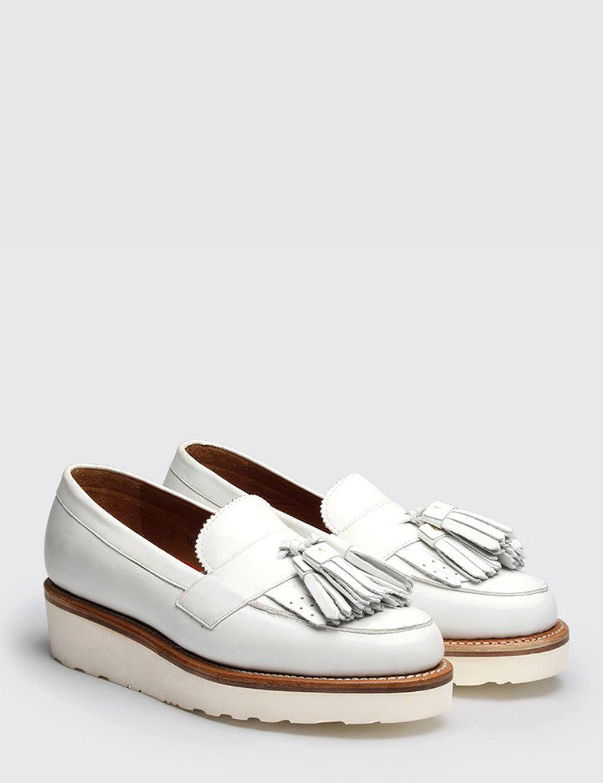 e98f09ddd33 Lyst - Grenson Womens Clara Shoe in White