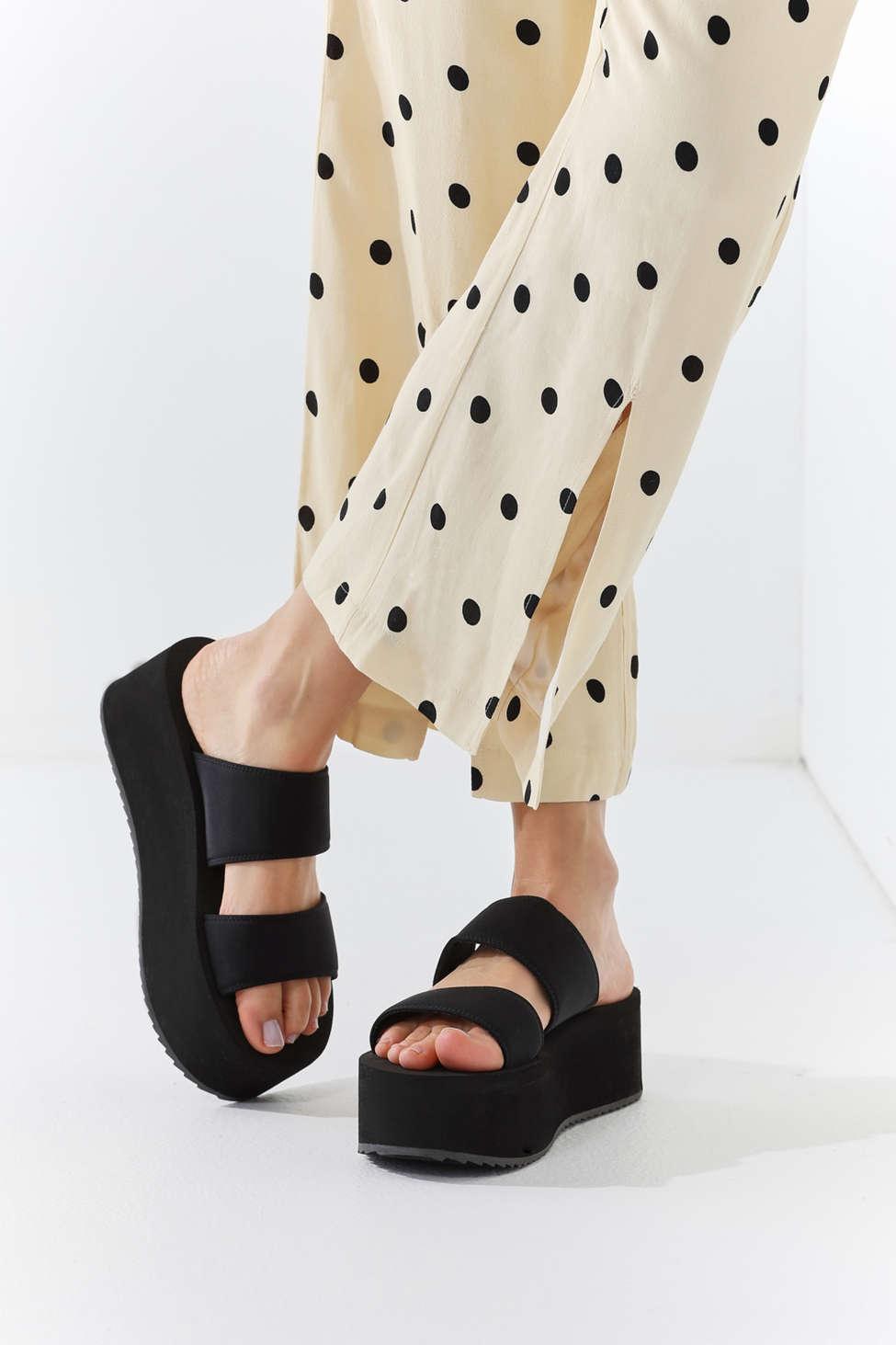 06ea2af0828 Lyst - Urban Outfitters Uo Ava Neoprene Platform Sandal in Black