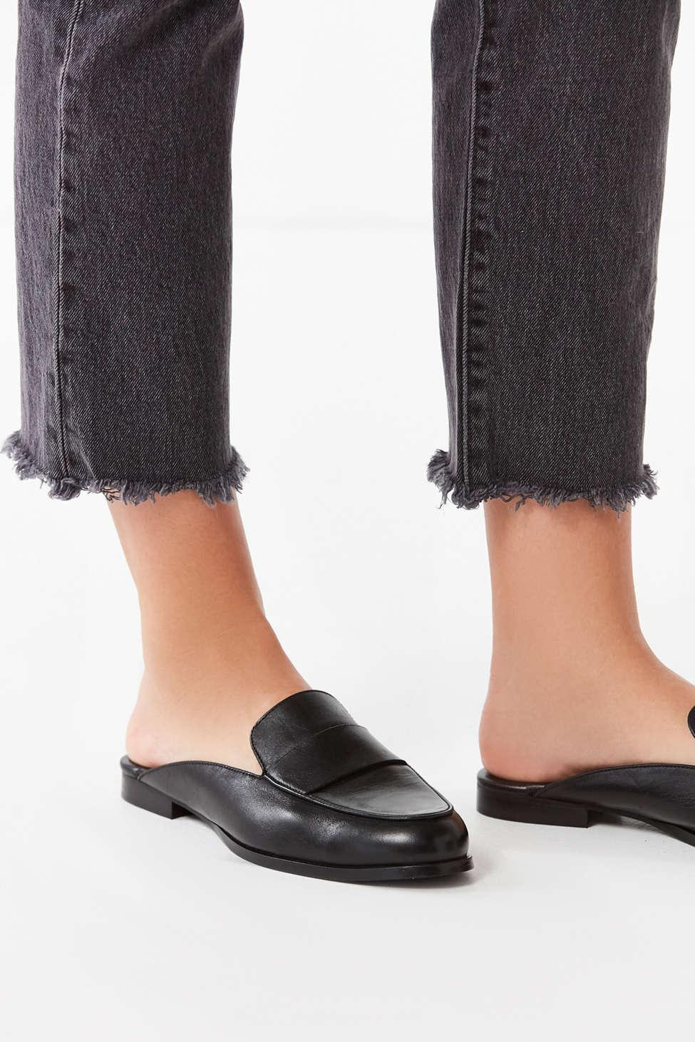 a65133ddecd176 Lyst - Urban Outfitters Jules Leather Loafer Mule in Black