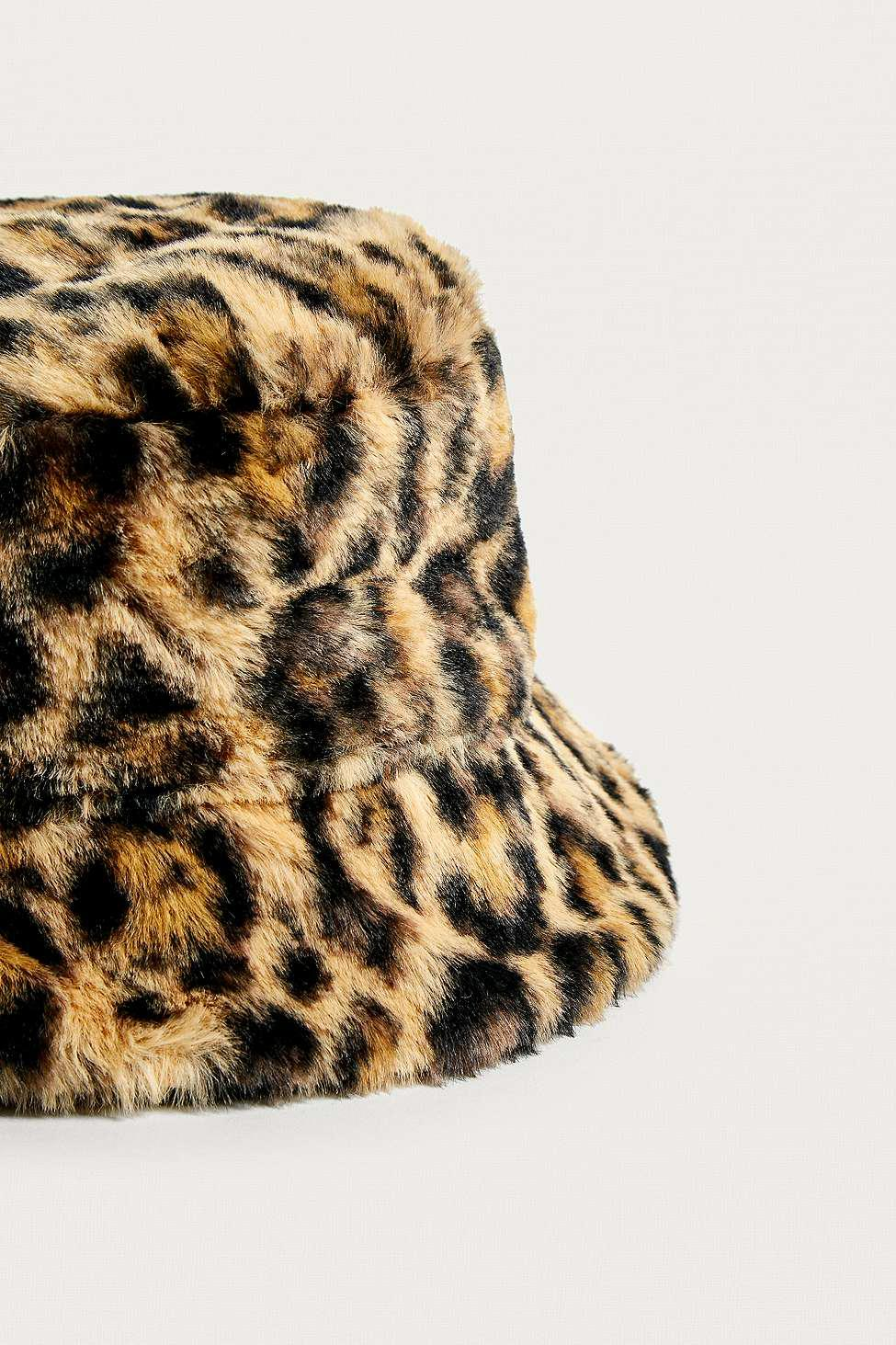 1ff0cd05 Urban Outfitters Uo Reversible Leopard Print Faux Fur Bucket Hat ...