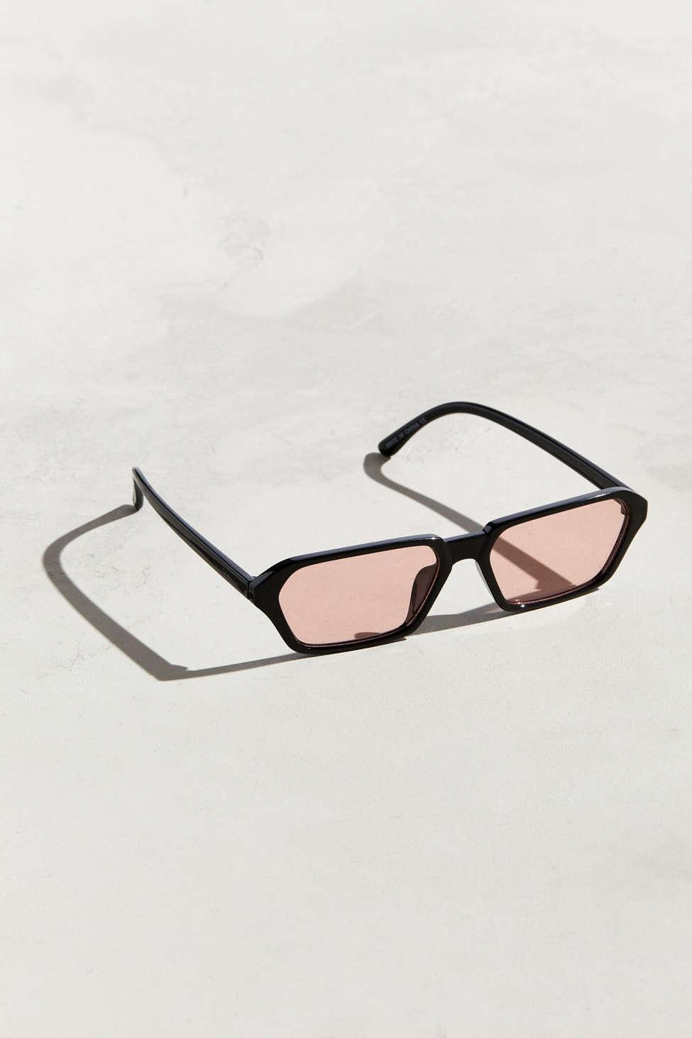 25f40ae37b Lyst - Urban Outfitters Uo Combs Geo Rectangle Plastic Sunglasses in ...