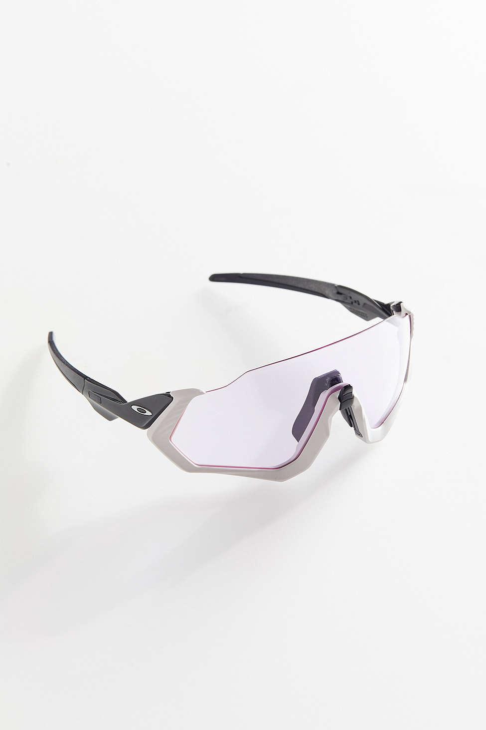 bb8dbd31e2 Lyst - Oakley Flight Jacket Carbon Sunglasses in Pink