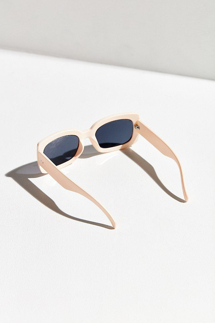 25f83df254a Lyst - Urban Outfitters Hip To Be Square Sunglasses in White