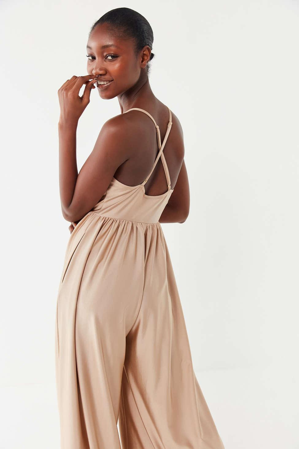 619f32d2668 Urban Outfitters - Multicolor Uo Gia Plunging Shimmer Jumpsuit - Lyst. View  fullscreen