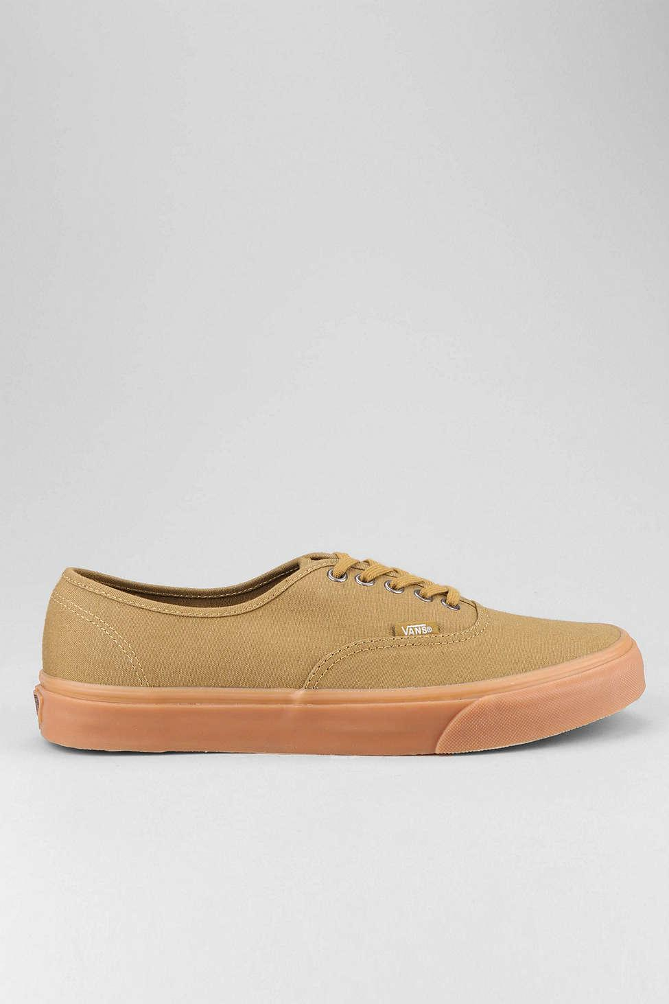 Lyst - Vans Authentic Gum Sole Sneaker in Brown for Men d0ac69477