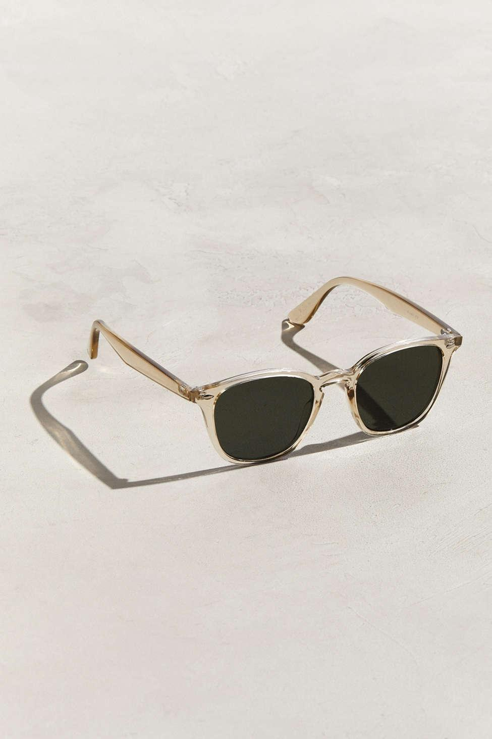 87ffc51b4ad Men s Yellow Crystal Preppy Plastic Square Sunglasses