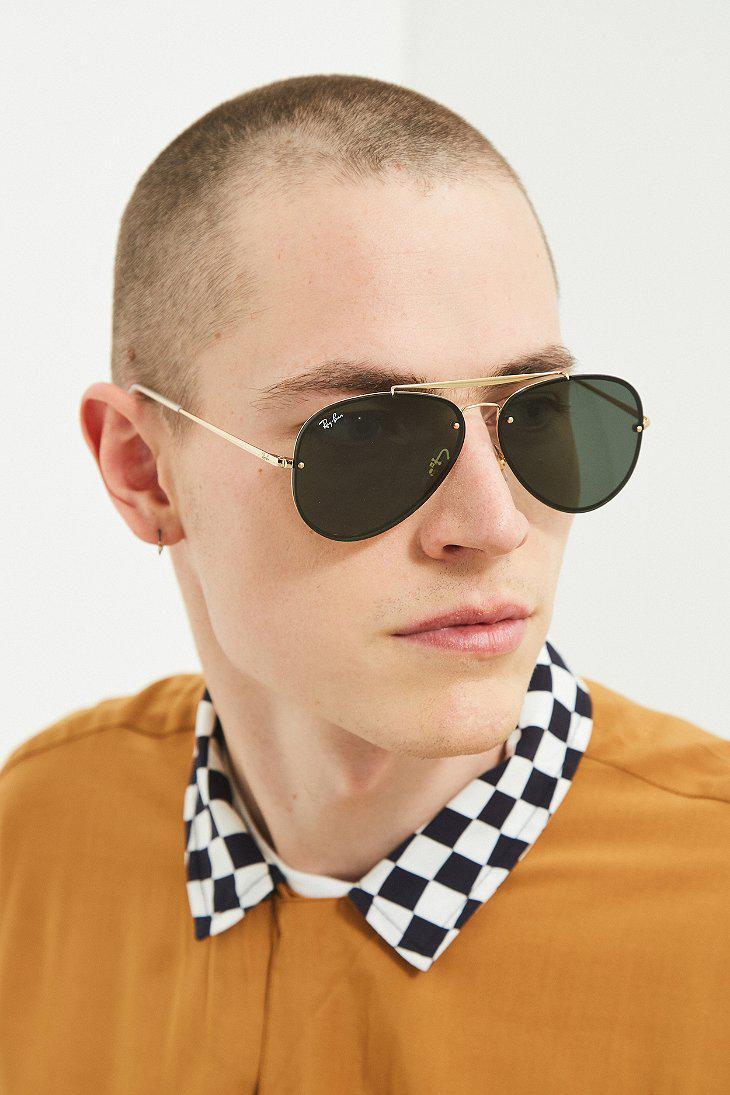 386d4828d1 Lyst - Ray-Ban Ray-ban Blaze Aviator Sunglasses in Metallic for Men