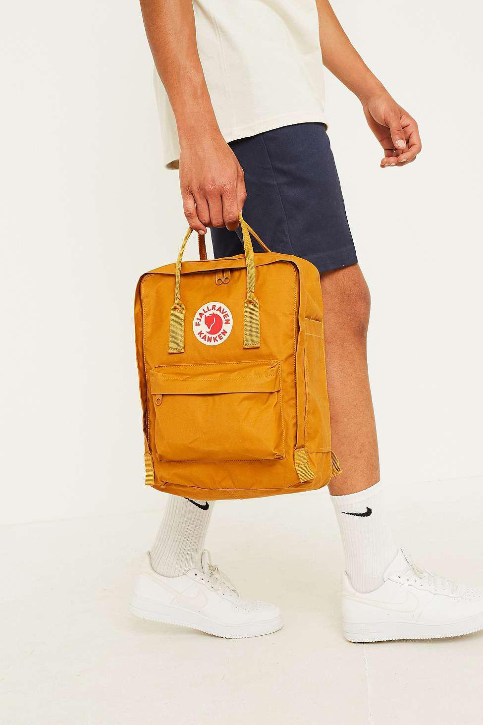 8c6a8ed9d44 Fjallraven Kanken Acorn Backpack - Mens All in Yellow for Men - Lyst