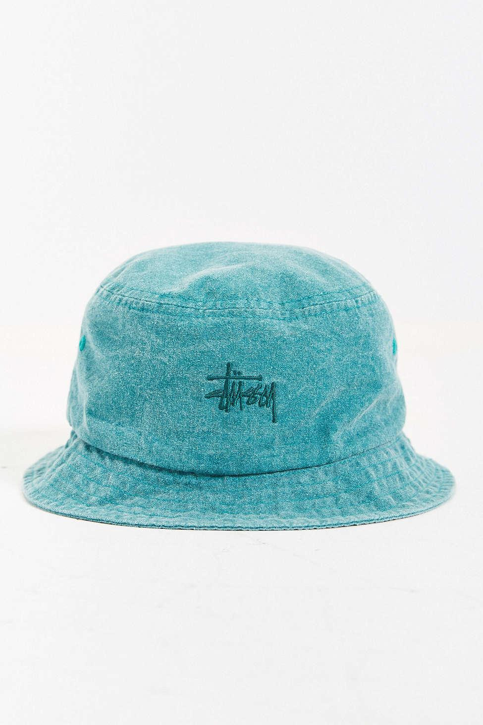 636027e6 Stussy Signature Bucket Hat in Blue for Men - Lyst