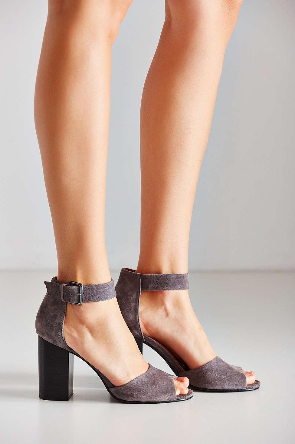 Urban Outfitters Mary Suede Heel In Gray Lyst