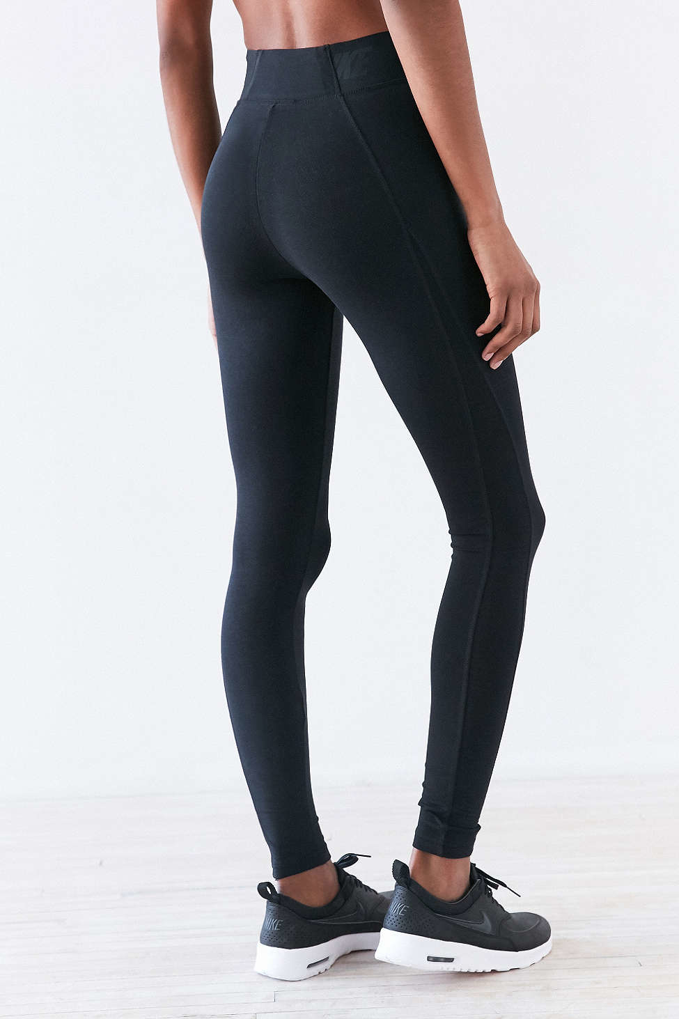 Nike Bonded Mesh Legging in Black | Lyst