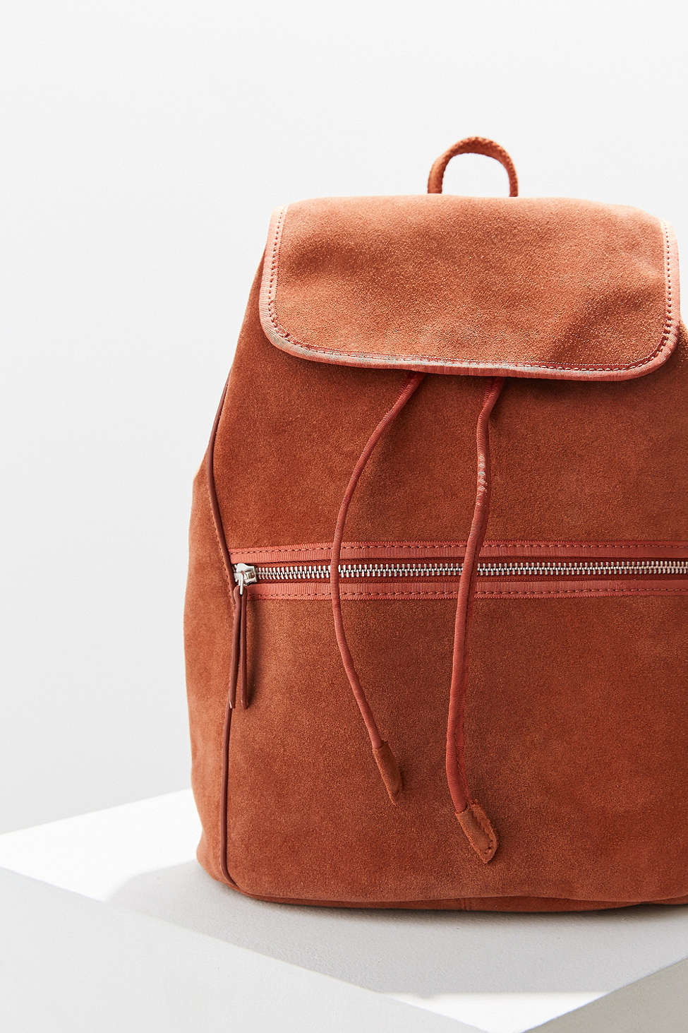 2b913ccbe1 Lyst - Ecote Suede Zip Backpack in Brown