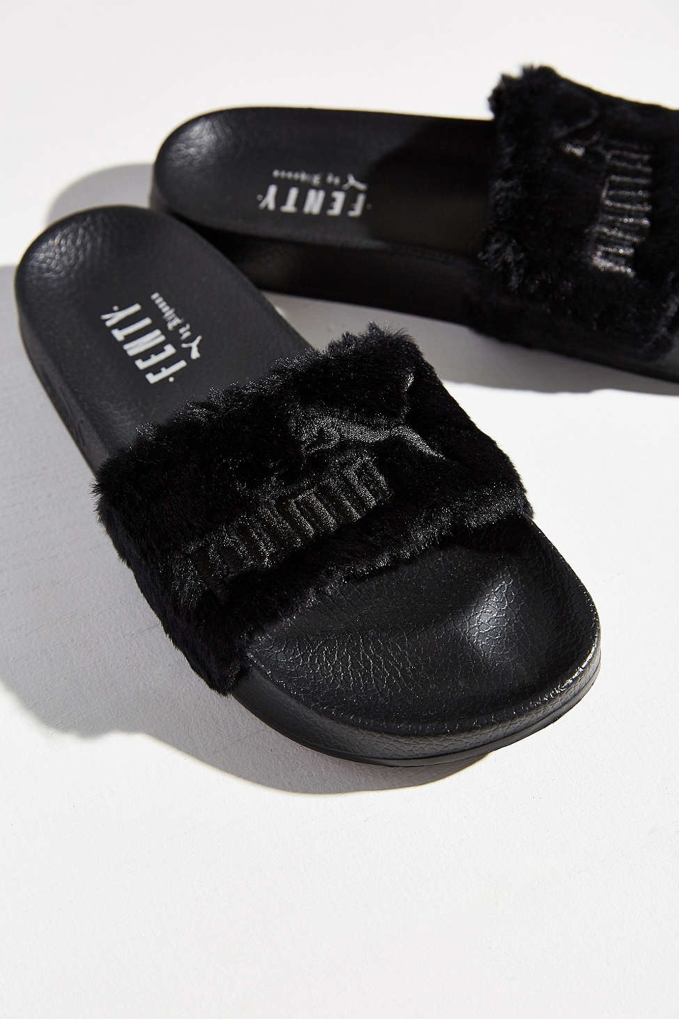 buy popular c5a8d d3e7a spain puma slippers black fur 04d61 dd60f