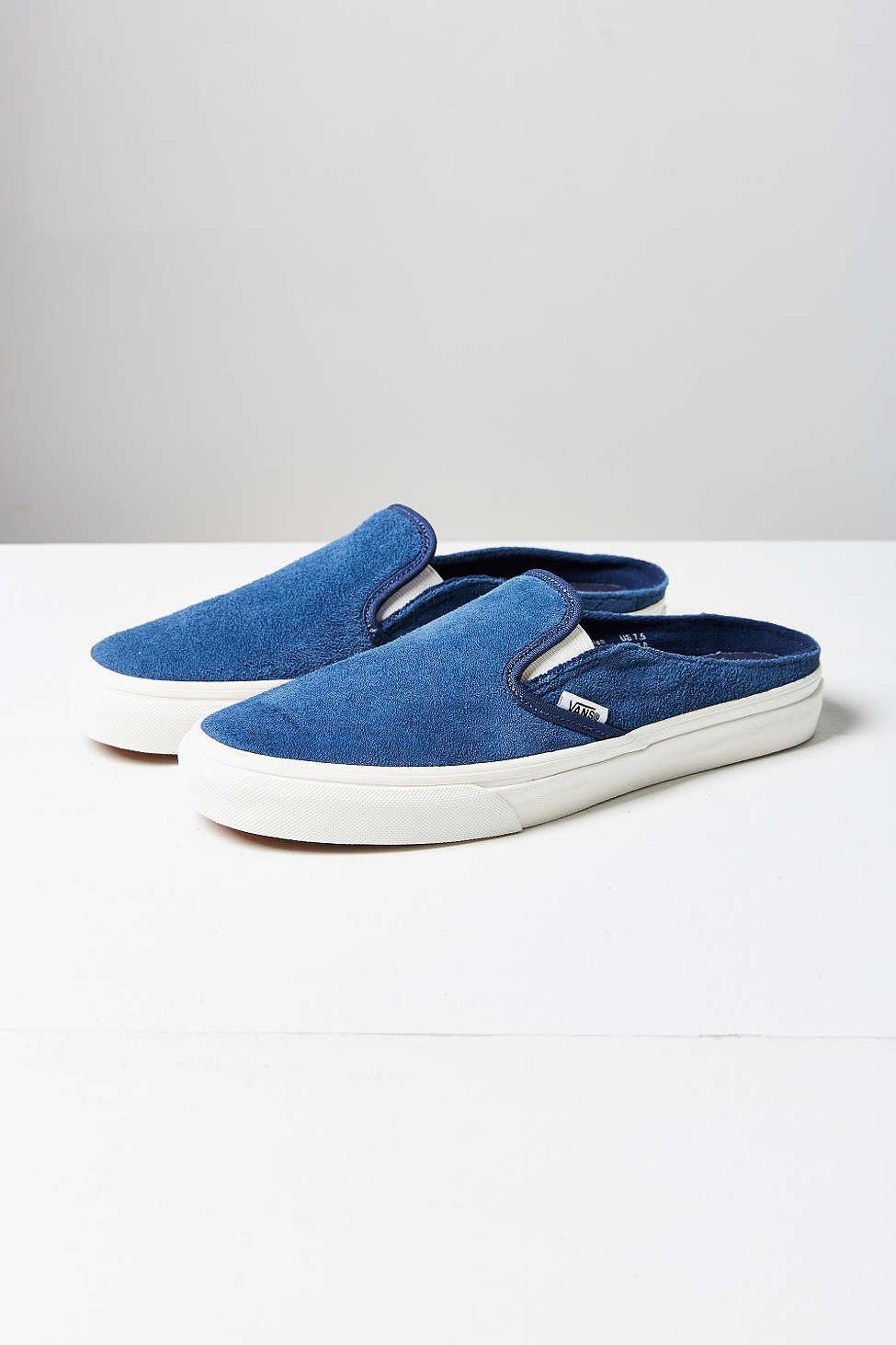 49a3a99ccf7c Vans Scotchgard Slip-on Mule Sneaker in Blue - Lyst